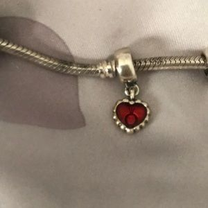 Jewelry - Pandora dangle heart charm